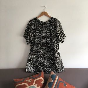 Easy Breezy Band of Gypsies Patterned Shirt Dress